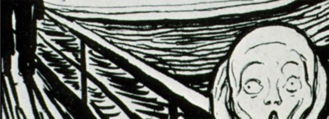 detail of the scream, by Edvard Munch